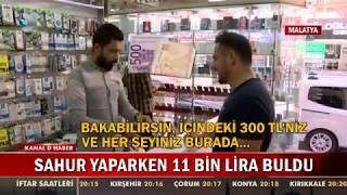 Sahur Yaparken 11 Bin Lira Buldu! Malatya