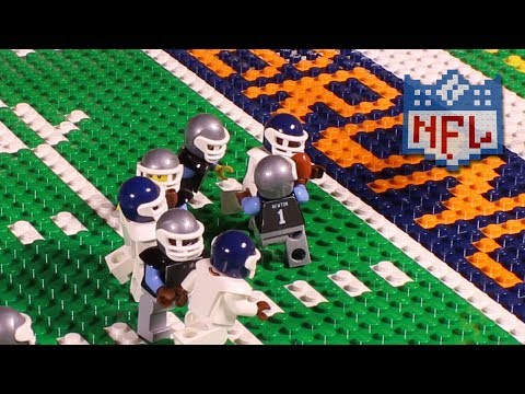 NFL Super Bowl 50: Carolina Panthers vs. Denver Broncos | Lego Game Highlights
