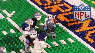 nfl super bowl 50 carolina panthers vs denver broncos lego game highlights