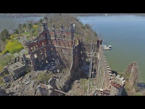 bannerman castle aerial views youtube