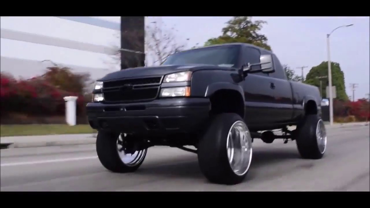 Silverado Z71 on 26x16 Intros - YouTube