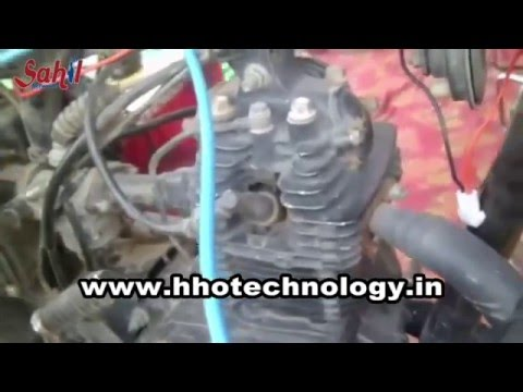 Hydrogen generator kit installation in 100cc bike | Water fuel kit for bike