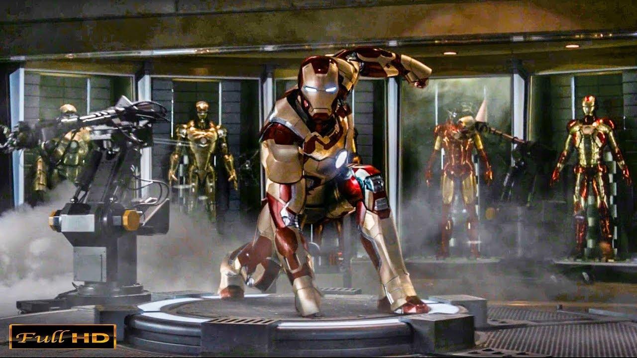 Первое Испытание костюма Марк 43   Железный Человек 3 ...
