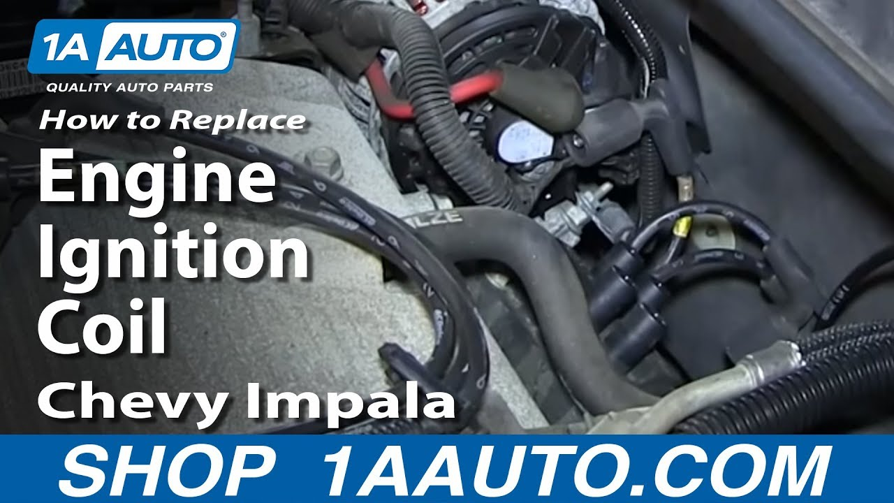 How To Replace Install Engine Ignition Coil 200612 Chevy Impala 35L  YouTube