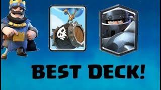 BEST MEGA KNIGHT SKELETON BARREL DECK! | Clash Royale Best Decks