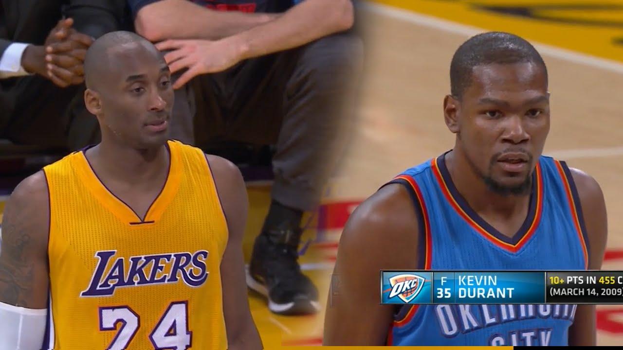 new concept da5b4 ea54f Kevin Durant vs Kobe Bryant LEGENDS Duel 2015.12.23 - 40 Pts Combind, Sick  Handles By KD!