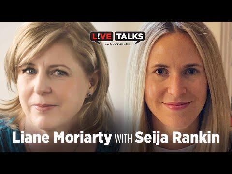Liane Moriarty with Seija Rankin at Live Talks Los Angeles