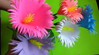 How to make paper flower bouquet Stick. Very Easy To Make. DIY flowers making. w9