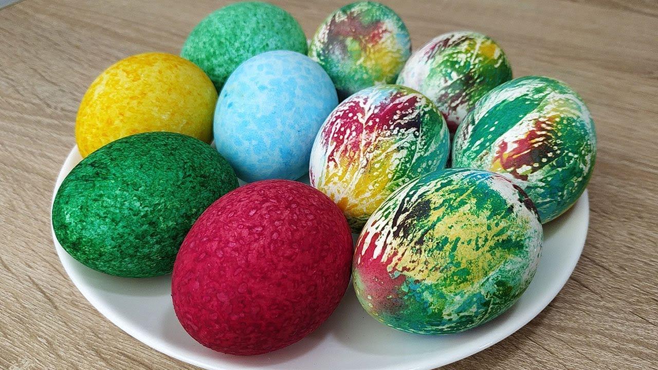 Как покрасить яйца - 2 необычных способа на Пасху! - YouTube