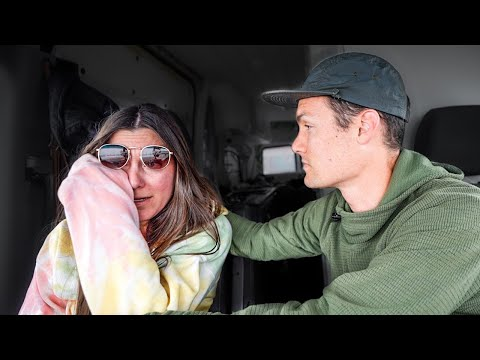 Our scariest day of van life. (winter in Yellowstone)