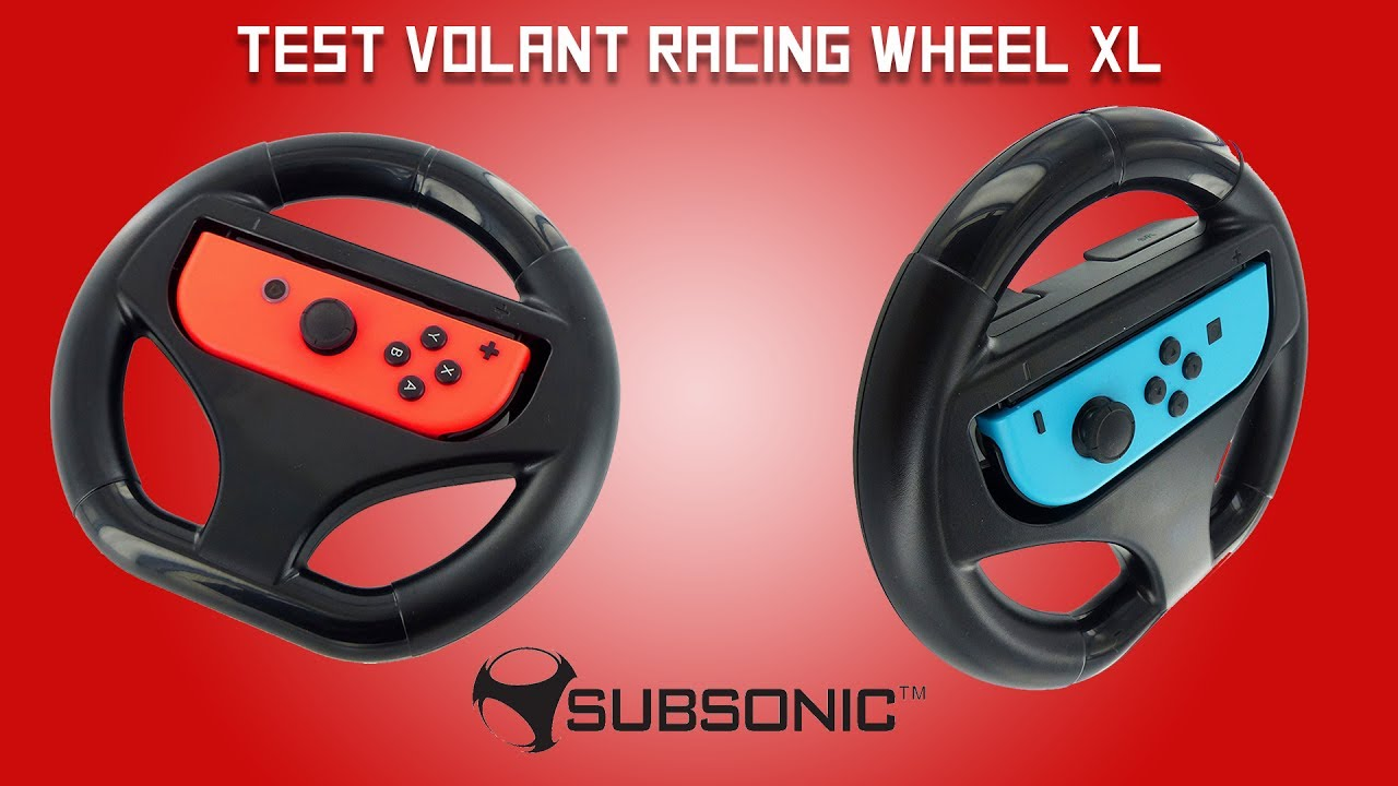 subsonic nintendo switch racing wheel xl au meilleur prix sur. Black Bedroom Furniture Sets. Home Design Ideas