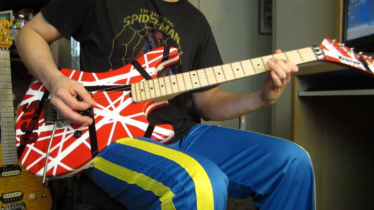 Van Halen 5150 On Kramer Custom Guitar Youtube