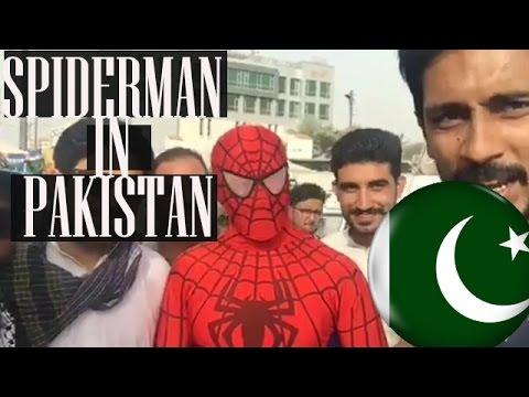 SPIDERMAN in Pakistan Protest against KESC 2017