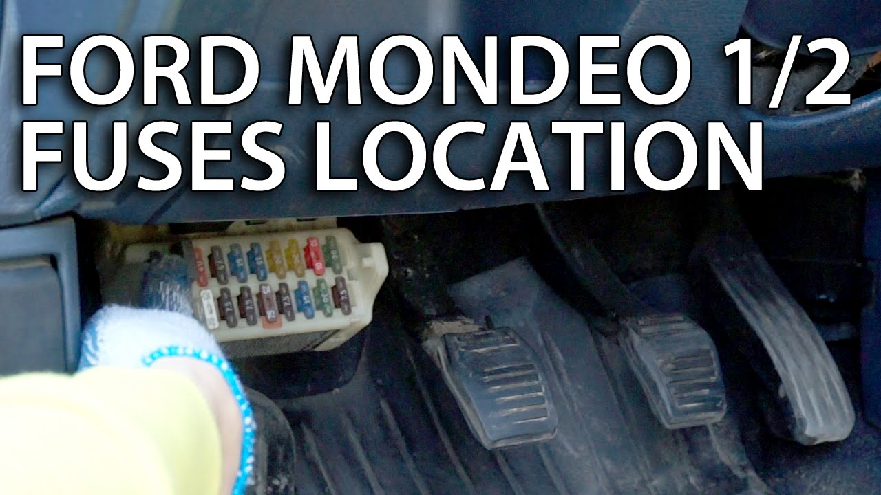 where are cabin fuses in ford mondeo & contour mk1 mk2 youtube mondeo mk4 radio fuse at Ford Mondeo Fuse Box