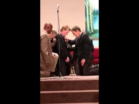 Dad getting Ordained