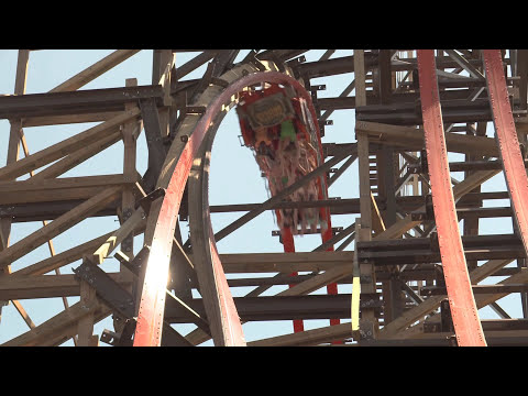 Goliath POV B-roll Footage Six Flags Great America
