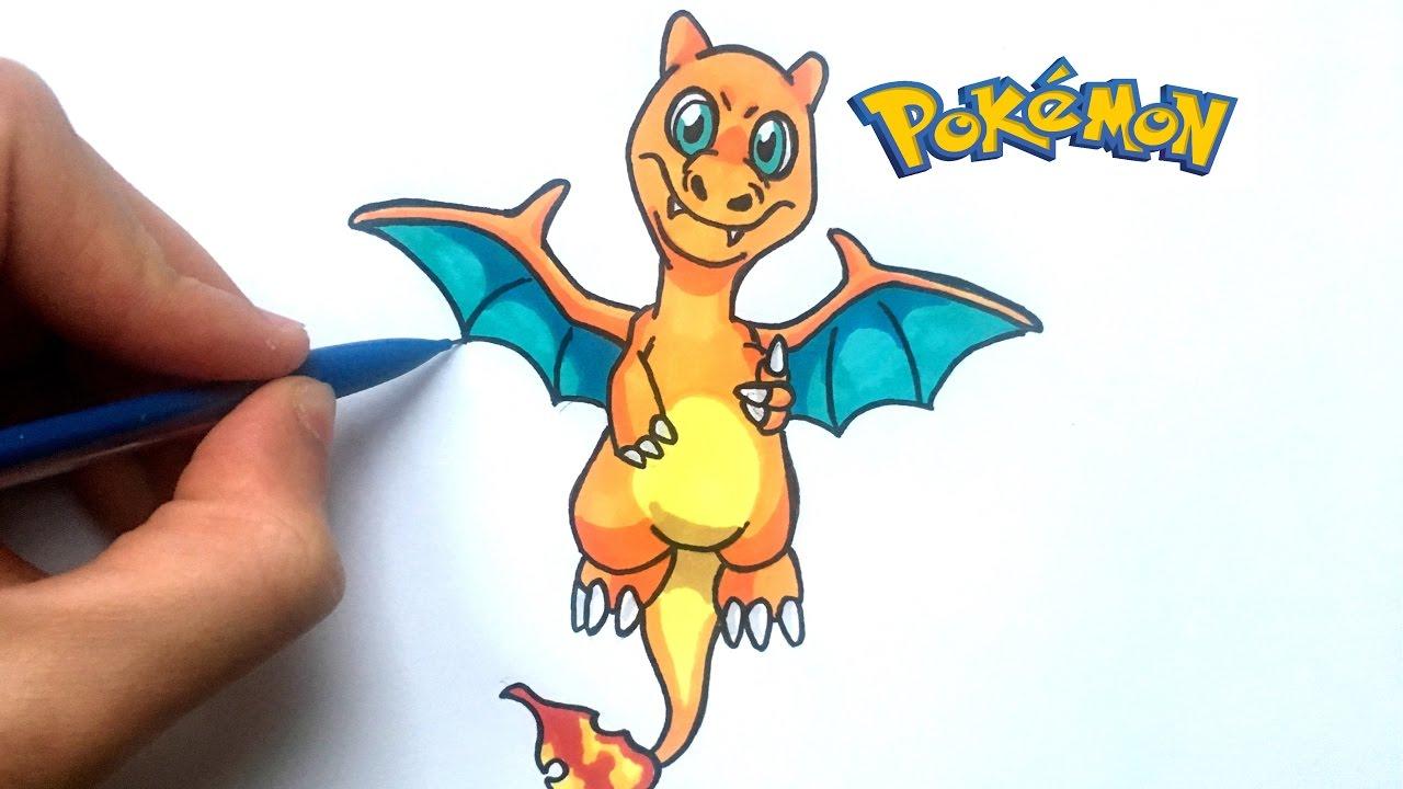 Dessin dracaufeu b b pok mon youtube - Dessin pokemon dracaufeu ...