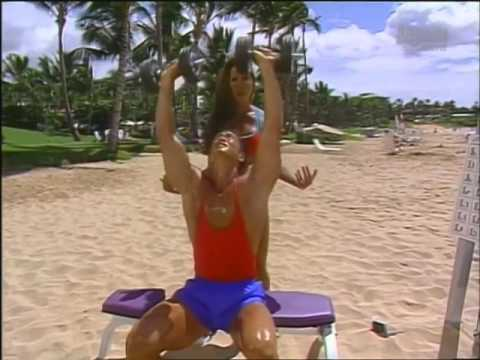 Kiana's Flex Appeal Bikinis & Biceps Beach Workout in Maui