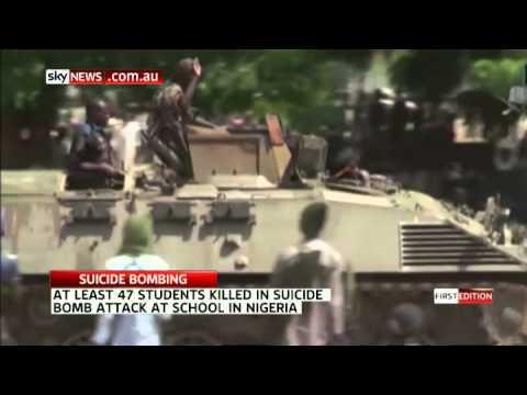 Bomber kills 47 in Nigeria school massacre