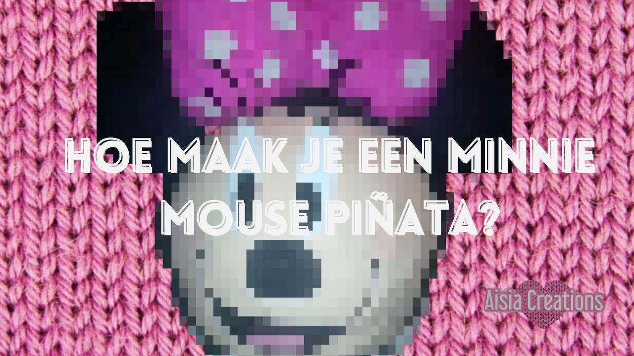 Voorkeur Hoe maak je een minnie mouse pinata? - YouTube &GC52