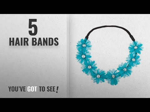 Top 10 Hair Bands [2018]: Lux Accessories Stretch Fit Floral Headband Head Crown Flower Crown Head