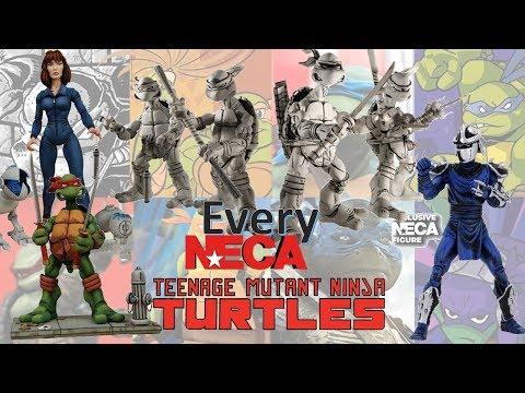 Every NECA Comic TMNT Teenage Mutant Ninja Turtles Comparison List