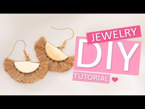 DIY Tutorial – Ohrringe mit DQ Metall und Quasten – Selbst Schmuck machen