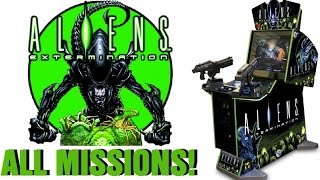 ALIENS: EXTERMINATION Arcade Game ALL 4 MISSIONS COMPLETED!