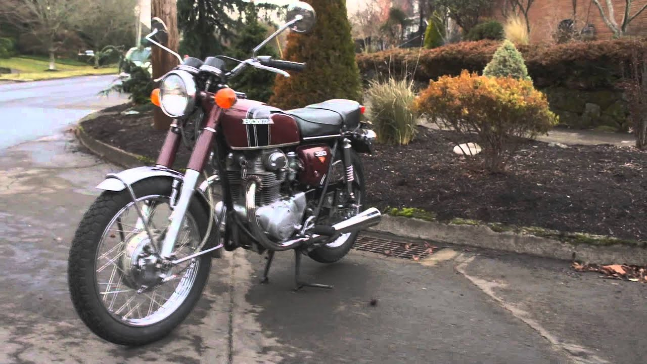 Honda Cb350 Twin Cold Start And Ride