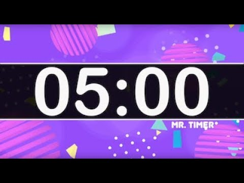 5 Minute Timer with Fun Playful Kids Music Instrumental! Countdown Timer for Kids 5 Minutes!