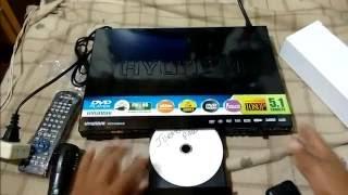 DVD Player Hyundai HYDV 955 HD Unboxing смотреть
