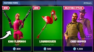 the *NEW* KING FLAMINGO SKIN in FORTNITE... (ITS INCREDIBLE)