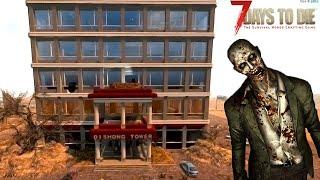 【2人実況】巨大なタワーに隠された「罠」で爆笑する生き残りサバイバル - 7 Days To Die #4