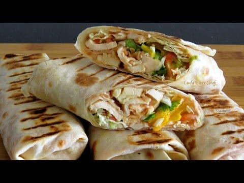 Домашняя ШАУРМА  вкуснейшая начинка и ЛАВАШ Bánh Shawarma #BánhShaurma #LudaEasyCook