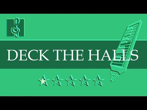 Melodica & Guitar Duet - Christmas song - Deck The Halls (Sheet music - Guitar chords)