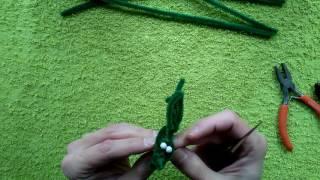 Майстер-клас з іграшок з синельної дроту. Ящірка. Частина перша.