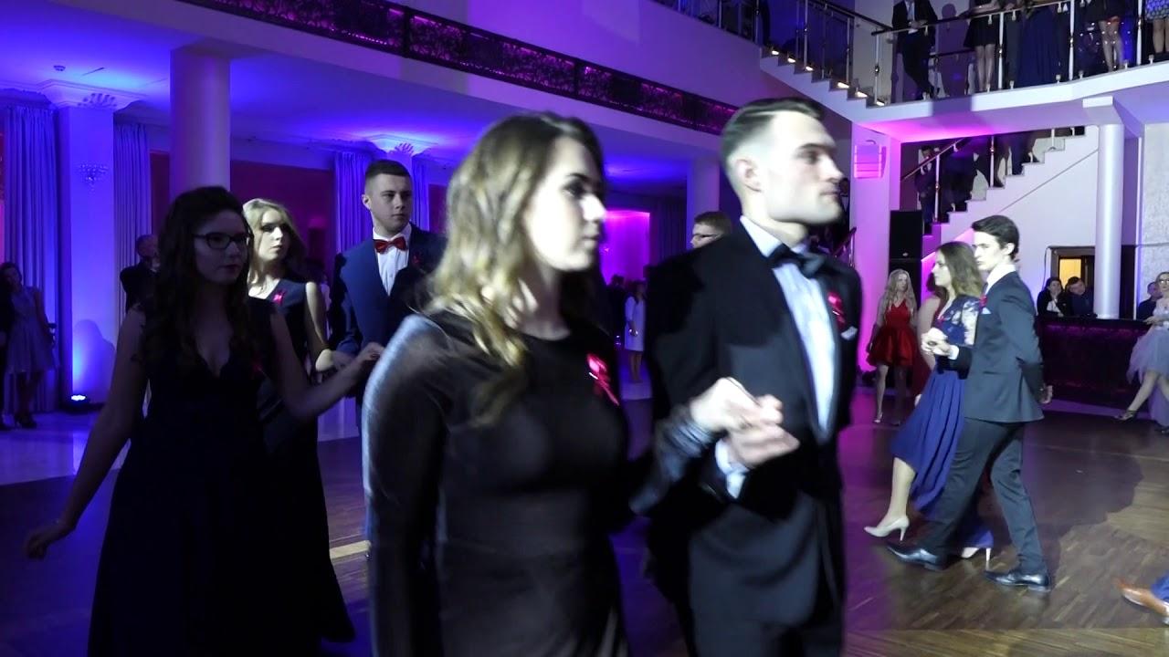 Studniówka I LO Żeromski w Kielcach. Polonez klasowy 3 w hotelu Binkowski 13.01.2018