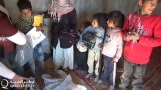 توزيع السلال الغذائية في ريف دمشق
