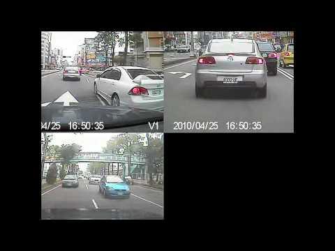 目擊者二代_違規橫跨雙白線,硬要從外線剪內線的Honda Civic