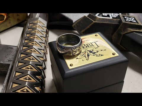 The Noble Collection - Thorin Oakenshield's Silver Rune Ring Review - The Hobbit Trilogy