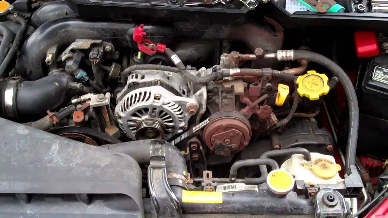 How to install subaru outback alternator  YouTube
