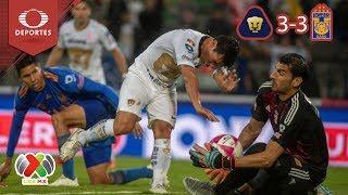 Aguerrido empate entre Pumas y Tigres | Pumas 3 - 3 Tigres | Apertura 2018 - J13 | Televisa Deportes