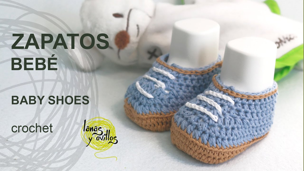Crochet Tutorial Zapatos Bebe : Tutorial Zapatos BebE Crochet o Ganchillo - YouTube