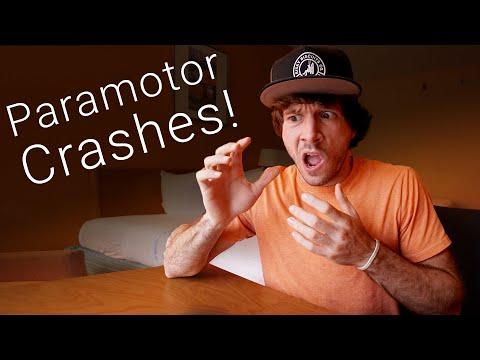 Paramotor SLAMS Into Beach! - Reacting To Crash Videos Pt. 5