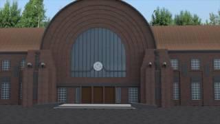 Виртуальная реконструкция вокзала Выборга по проекту Э. Сааринена