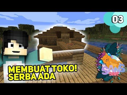 MEMBUAT TOKO DI DESA SANS SMP! - Minecraft Sans SMP #3