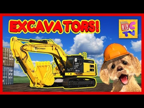 How Do Excavators Work? | Learn About Excavators And Hydraulics For Kids