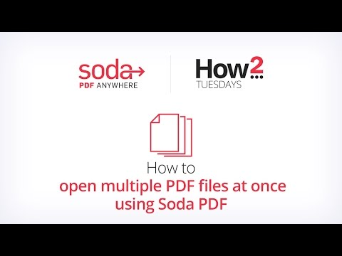 How to open multiple PDF files at once using Soda PDF - YouTube