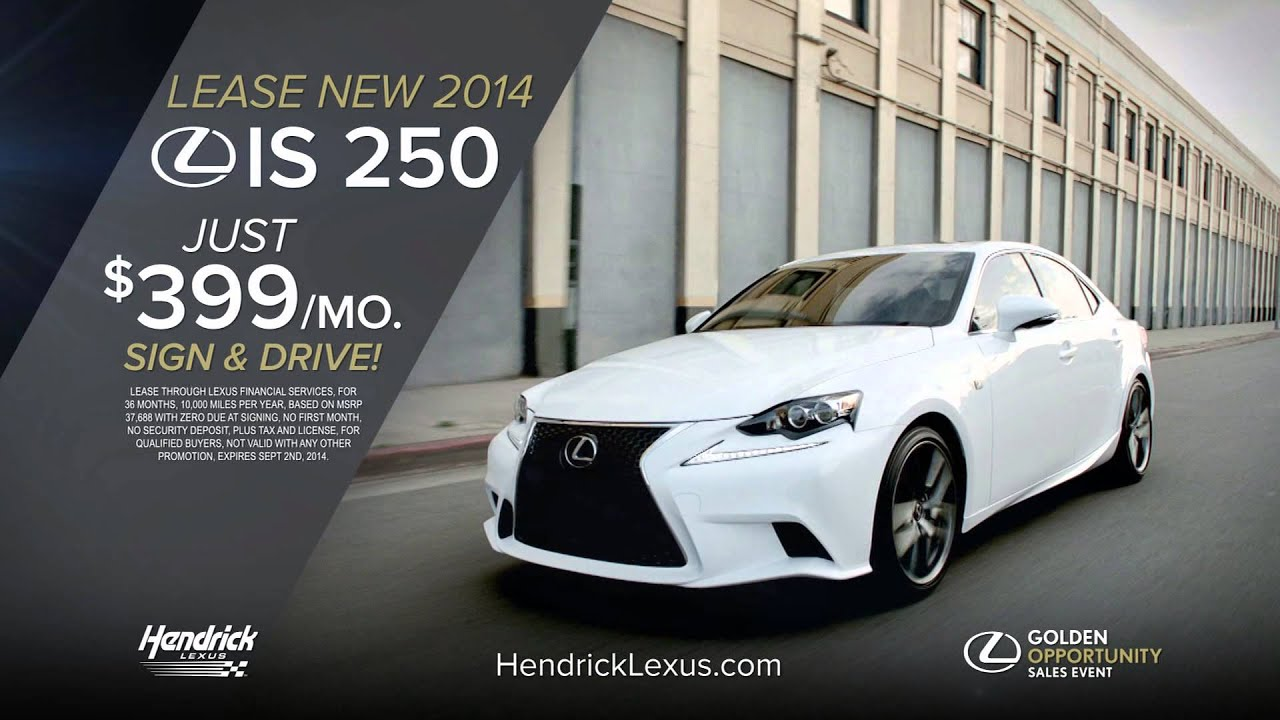 Hendrick Lexus Golden Opportunity Sales Event