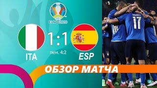 Италия Испания 1 1 Обзор матча Разбор матча Лучшие моменты